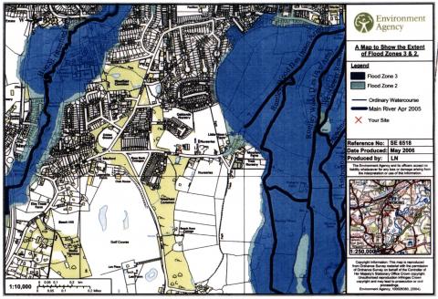'Moor Lane' Flooding Zone Maps