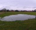 'Moor Lane' site resembles a duck pond due to rain (23 Dec 2012)