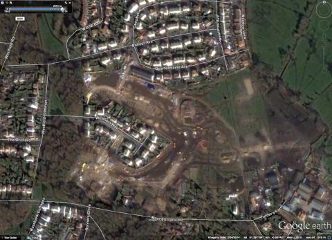 Aerial Shot of Kingsmoor Park development